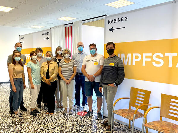 Das Team der SIBA-Impfaktion.