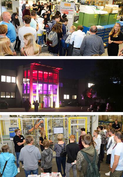 Gedränge bei SIBA zur Nacht der Ausbildung – die erste Teilnahme war gleich ein voller Erfolg.